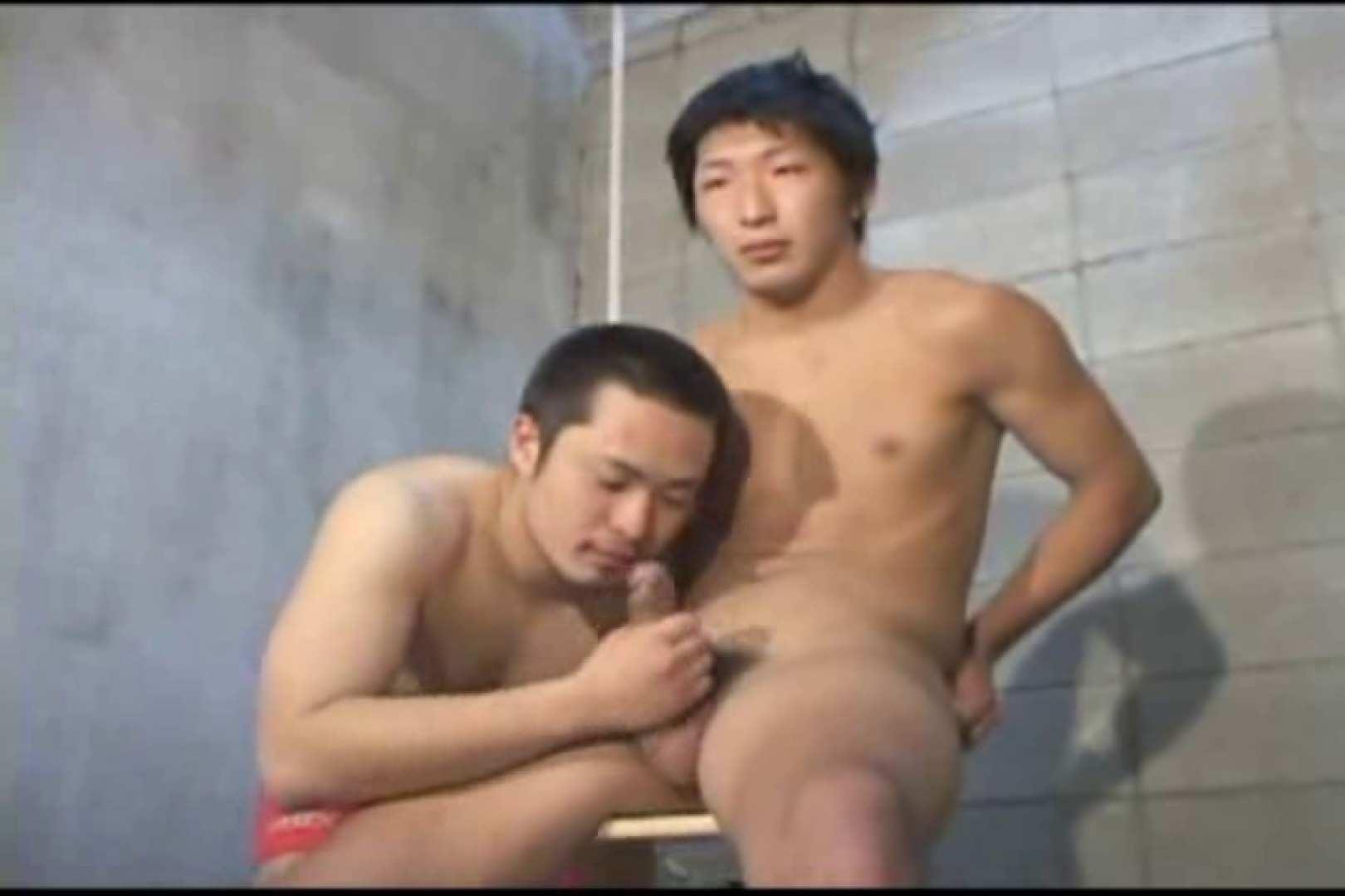 機械室で体育会系男子を手コキ&フェラ!! フェラ ゲイ素人エロ画像 68枚 43